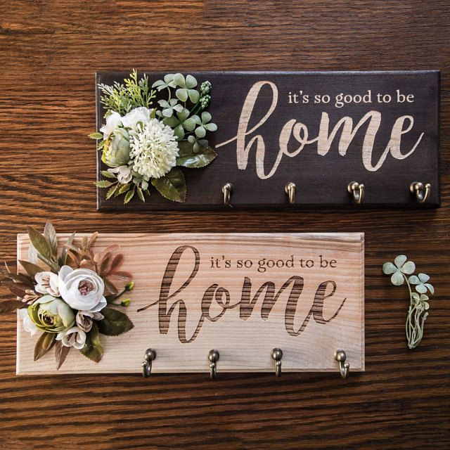 Key Holder For Wall Home Sweet Home Sign Key Rack