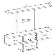 Resultado De Imagen Para Medidas Mueble De Tv Interior Design Plan Furniture Design Planning