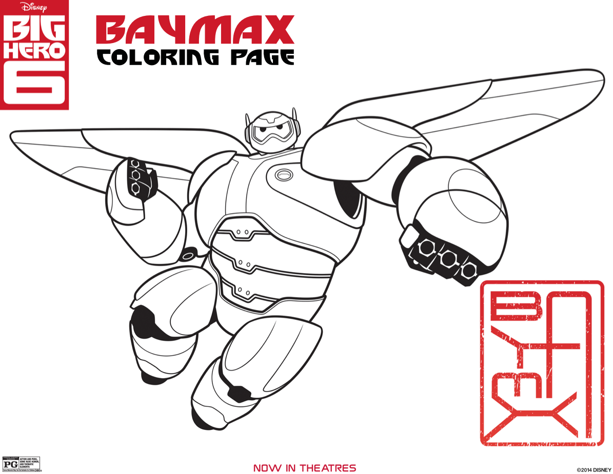 Baymax Coloring Page Big Hero  Coloring Pages Just What I Wanted
