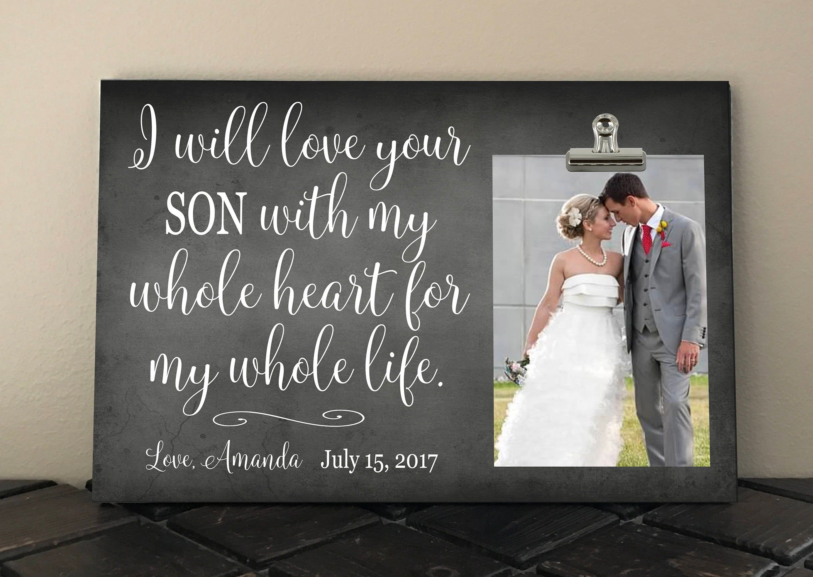 Mom and dad of groom personalized free wedding gift i