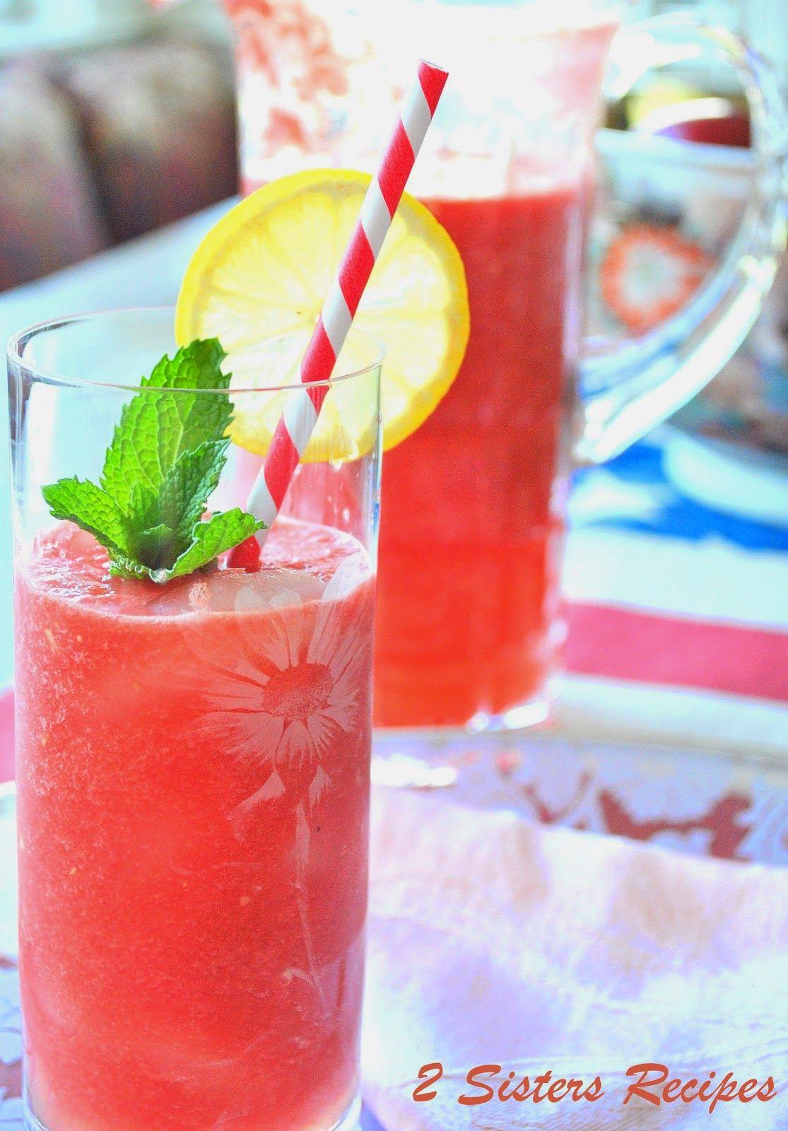 2 Sisters Recipes... by Anna and Liz: Fresh Watermelon Lemonade
