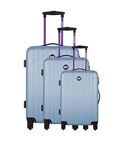 BAGSTONE Set 3 Trolley Rigido Magic 0 cm  [Azzurro]