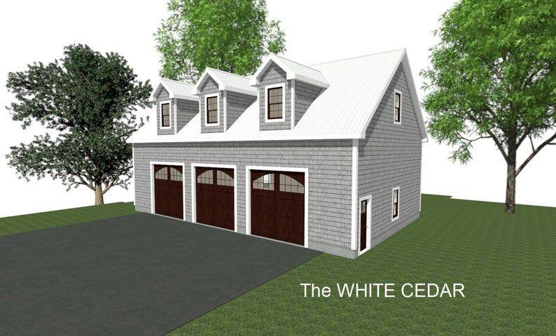GARAGE PLANS 50 x 30 3 Car Garage Plans 10 12 14ft Wall Studio Storage