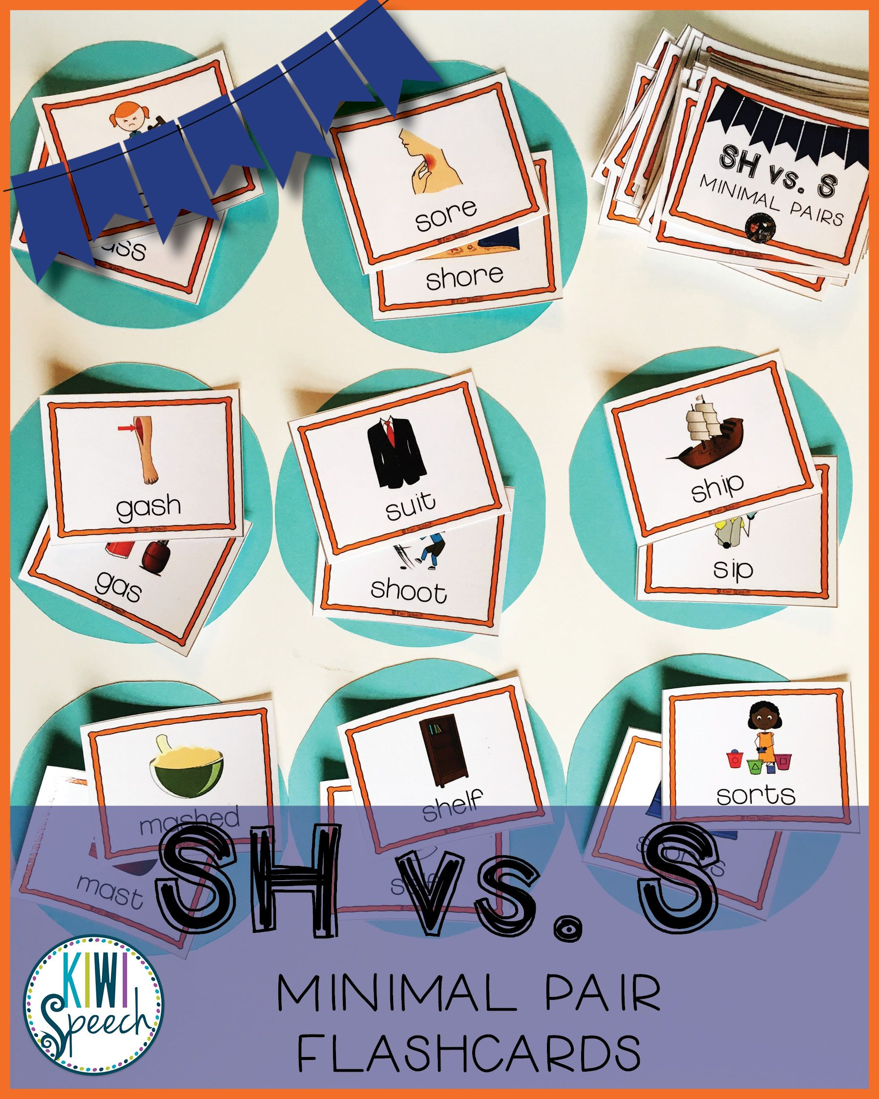 Sh Vs S Minimal Pairs Flashcards Tpt Resources By Kiwi