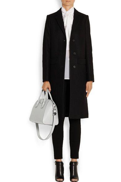 Gray Small Antigona Bag In Gray Textured Leather Givenchy Givenchy Coat Givenchy Givenchy Antigona Small