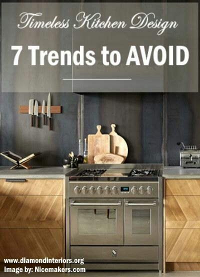 Timeless kitchen design 7 trends to avoid modern home - Decorating trends to avoid ...