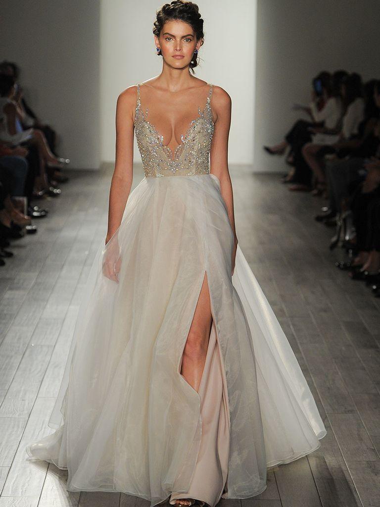 Ethereal wedding dress  Hayley Paige Fall  Shimmering Ethereal Wedding Dresses
