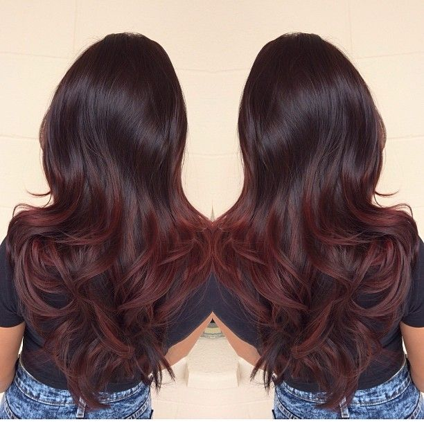 Black To Dark Red Ombre Think About Doing Red Ombre Hair Hair