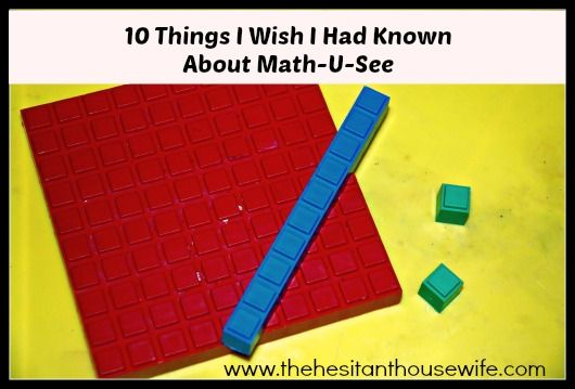 What I Wish I Had Known About Math U See B F Starting Homeschooling Www Thehesitanthousewife Com Math U See Homeschool Math Learning Math