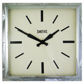 Add A Touch Of Modern With This Chrome Framed Clock Display It In Your Hallway
