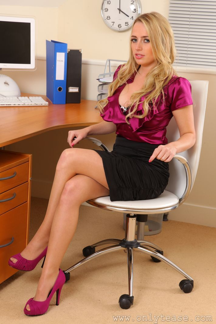 Theme sexy blonde secretaries in nylons charming