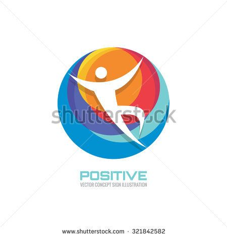 Human Character In Colored Circle Creative Logo Template Sign For