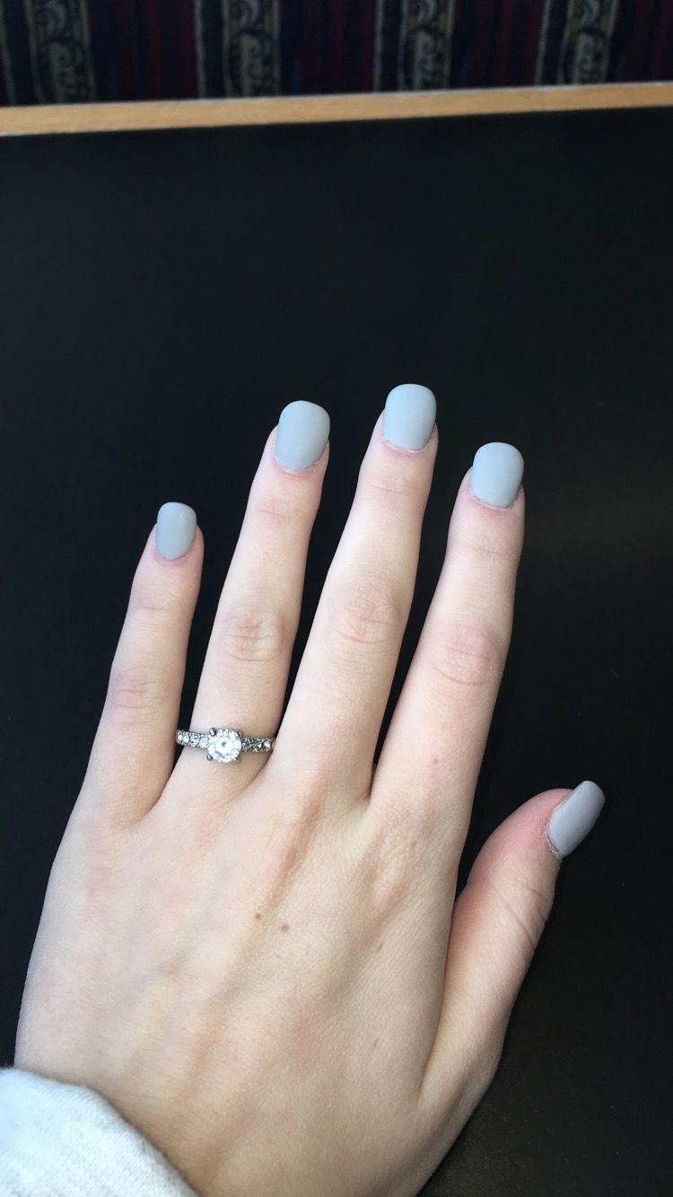 Light Blue Ish Grey Matte Acrylic Nails Short Matte Acrylic Nails Light Blue Nails Acrylic Nails