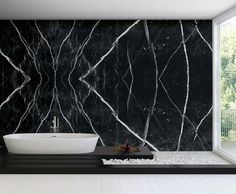 Resultado de imagen de piedra negra con veta blanca marmol