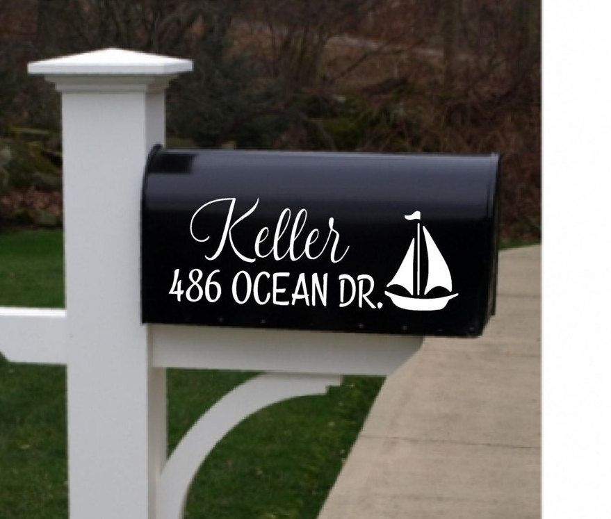 Mailbox Decals set of Name decal, custom mailbox decal, curb appeal, mailbox  sticker-customized by LovinTheBlingDesigns on Etsy