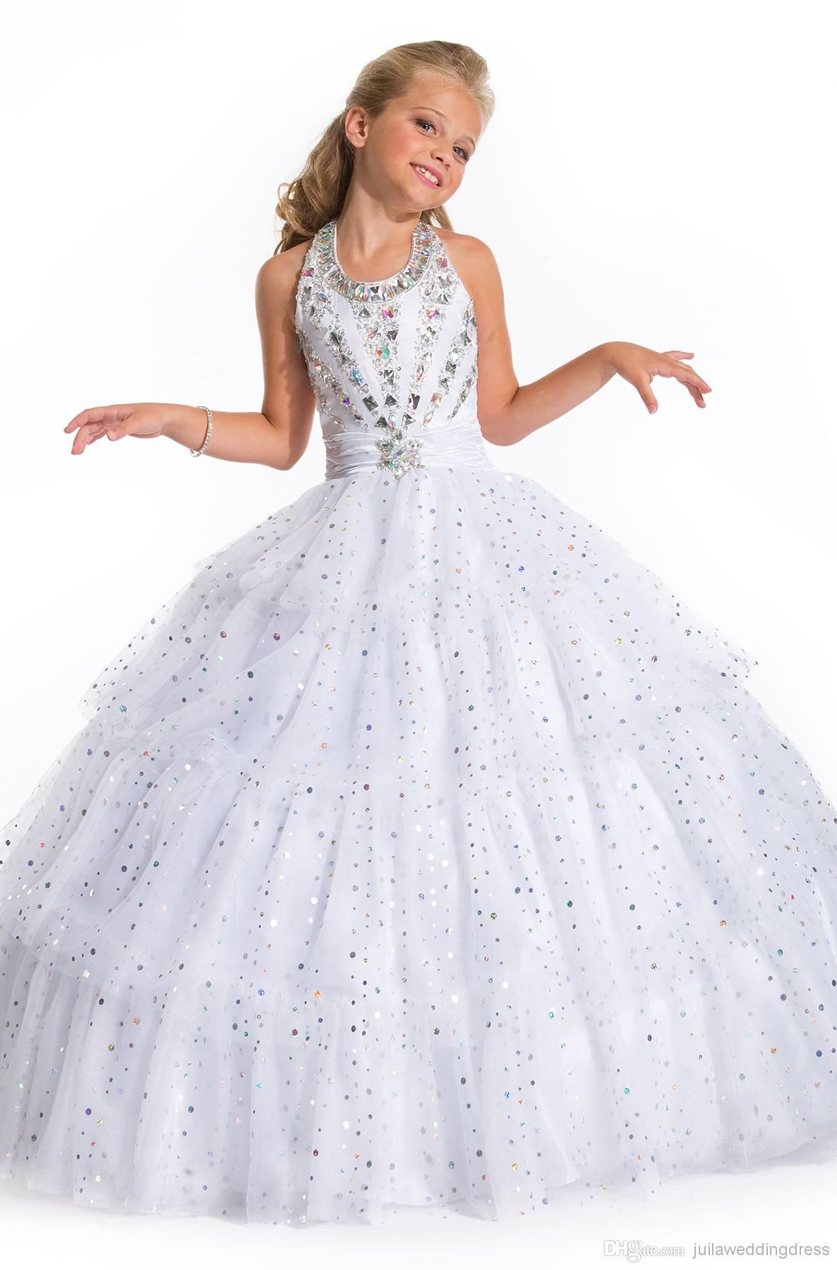Wholesale Girls Pageant Dress Buy New Arrival White Formal Girls