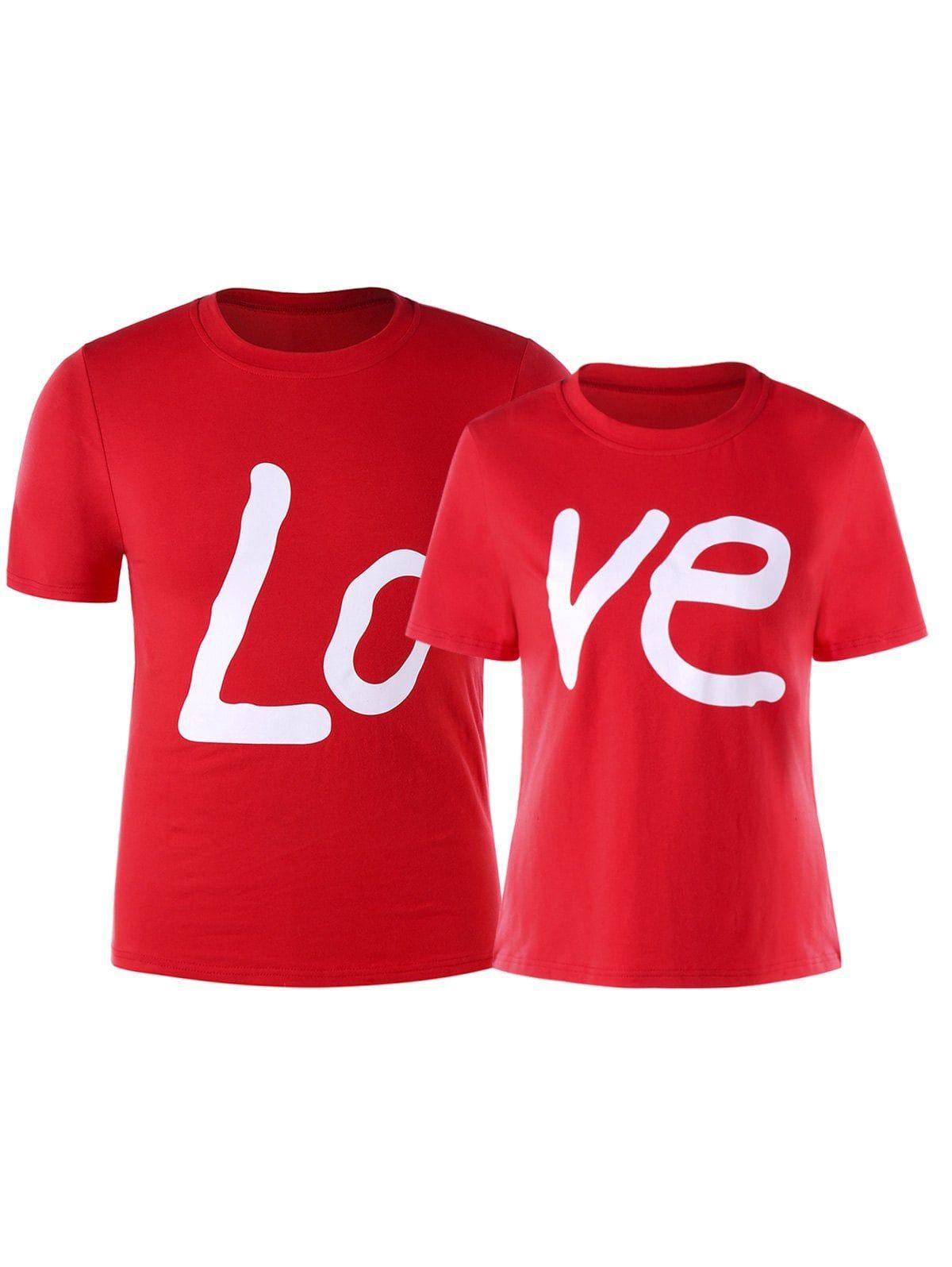 Love Print Matching Couples T Shirt Love T Shirt Couple T Shirt Matching Couple Shirts