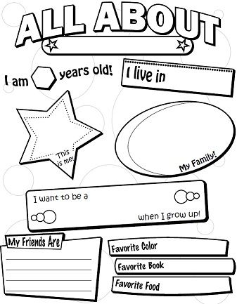 Worksheets All About Me Preschool Worksheets 1000 images about all me on pinterest poster and me