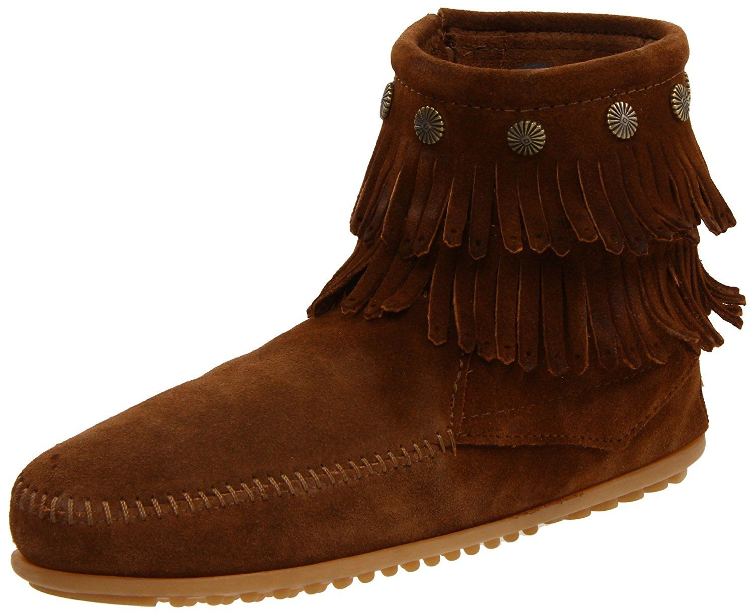 Women's Double Fringe Side Zip BootDusty10 M US