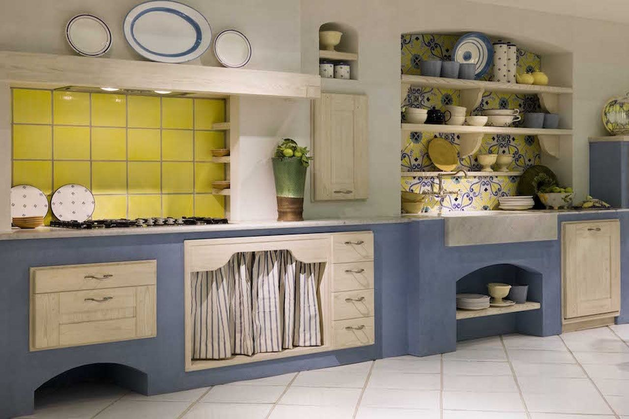 Cucine in finta muratura - Cucina bianca in finta muratura ...