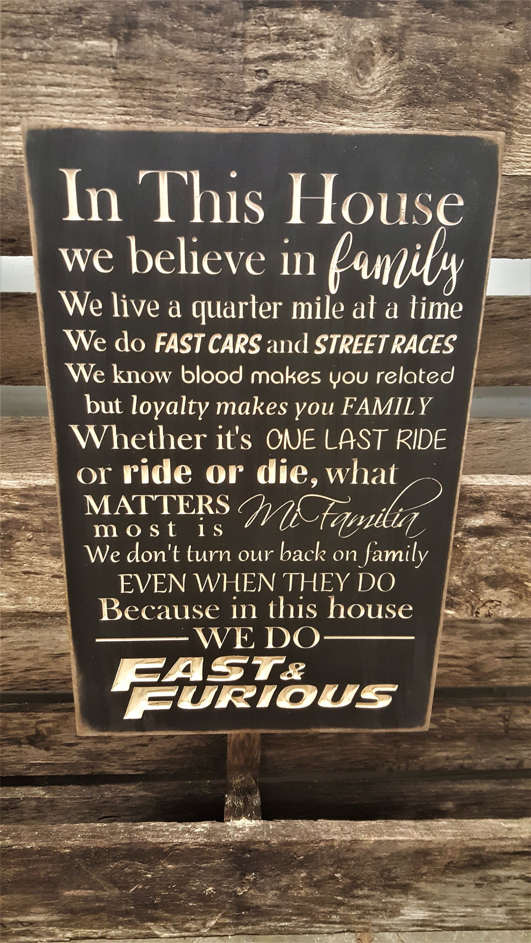 Custom Carved Wooden Sign Fast Furious In Etsy Custom Carved Wooden Signs Custom Carved Wooden Carved Signs