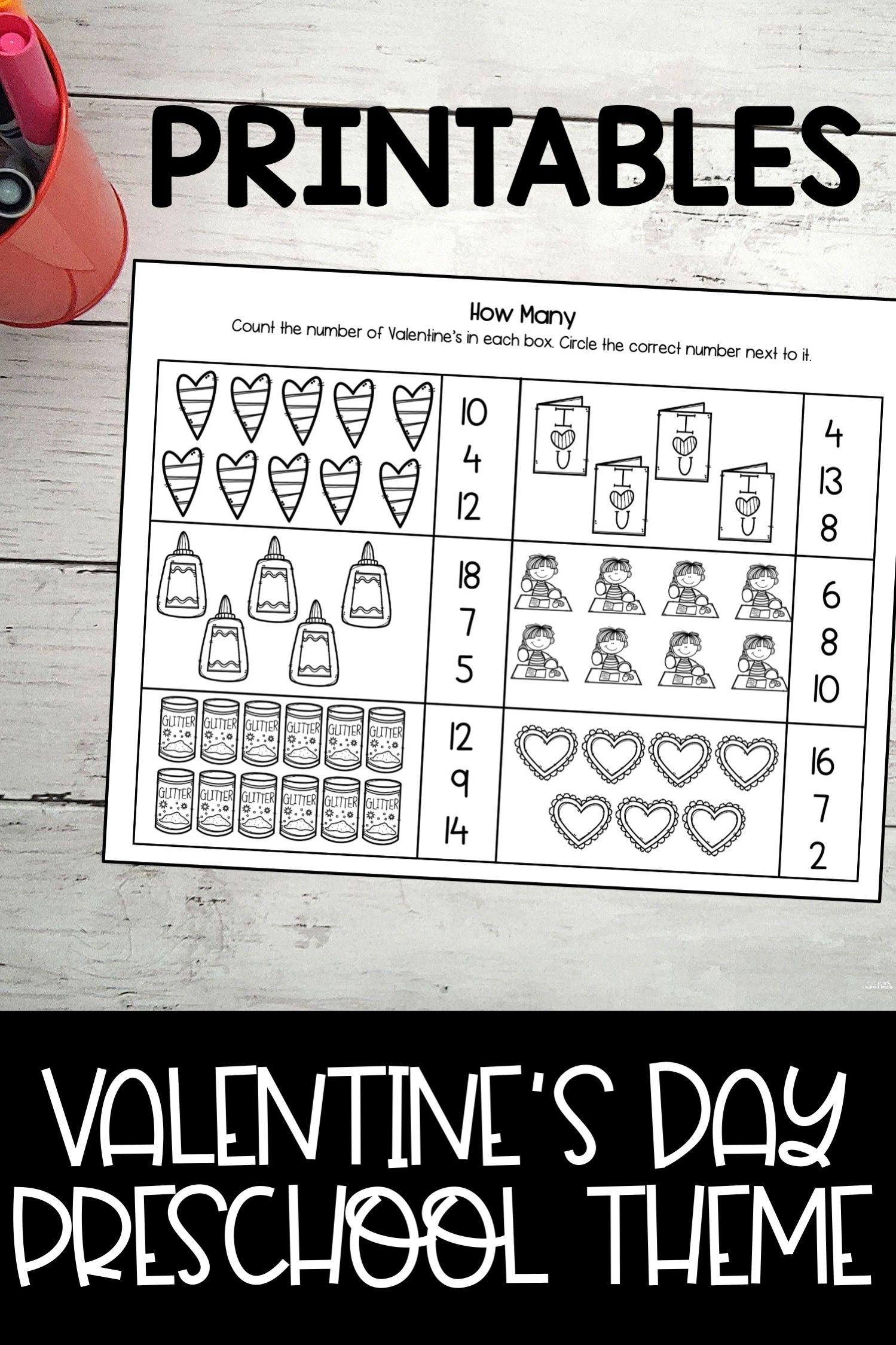 Valentine S Day Preschool Pack In