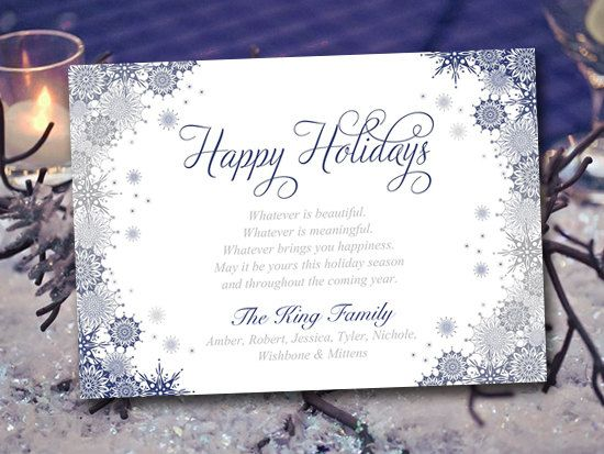 Snowflake greeting card template holiday greeting card navy silver snowflake greeting card template holiday greeting card navy silver christmas tree ornate snowflakes m4hsunfo