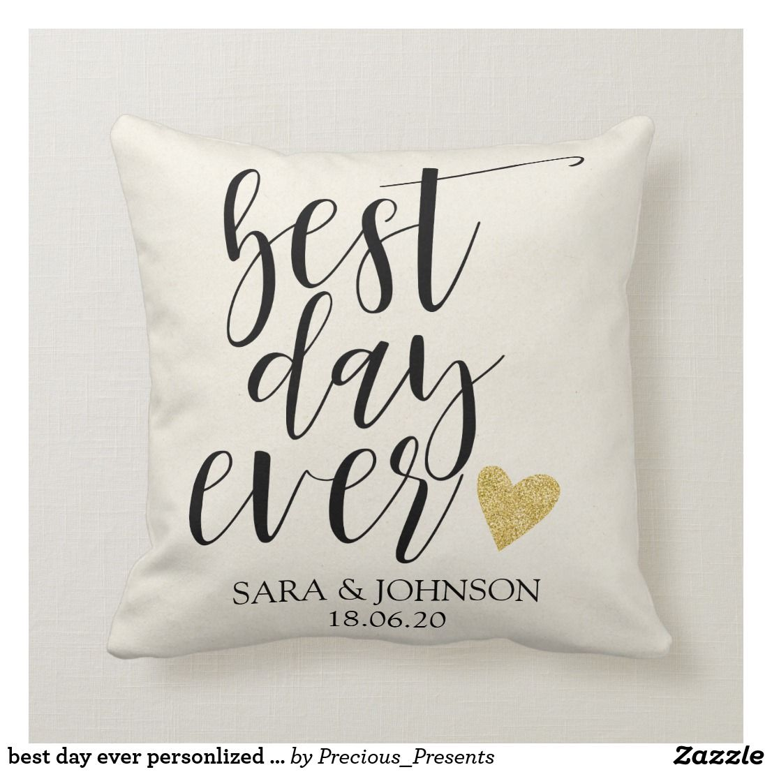 Best Day Ever Personlized Wedding Gift For Couple Throw