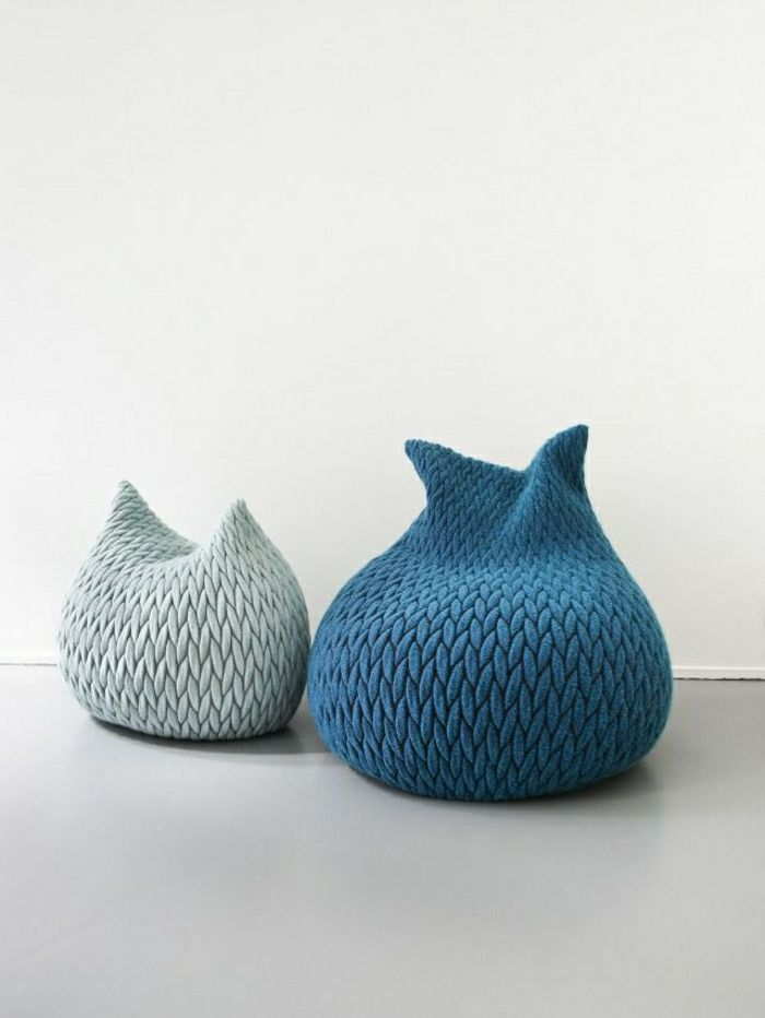 sitzkissen boden pouf fa 1 4 r den indoor kissen bodensitzkissen blau grau bodenkissen rund