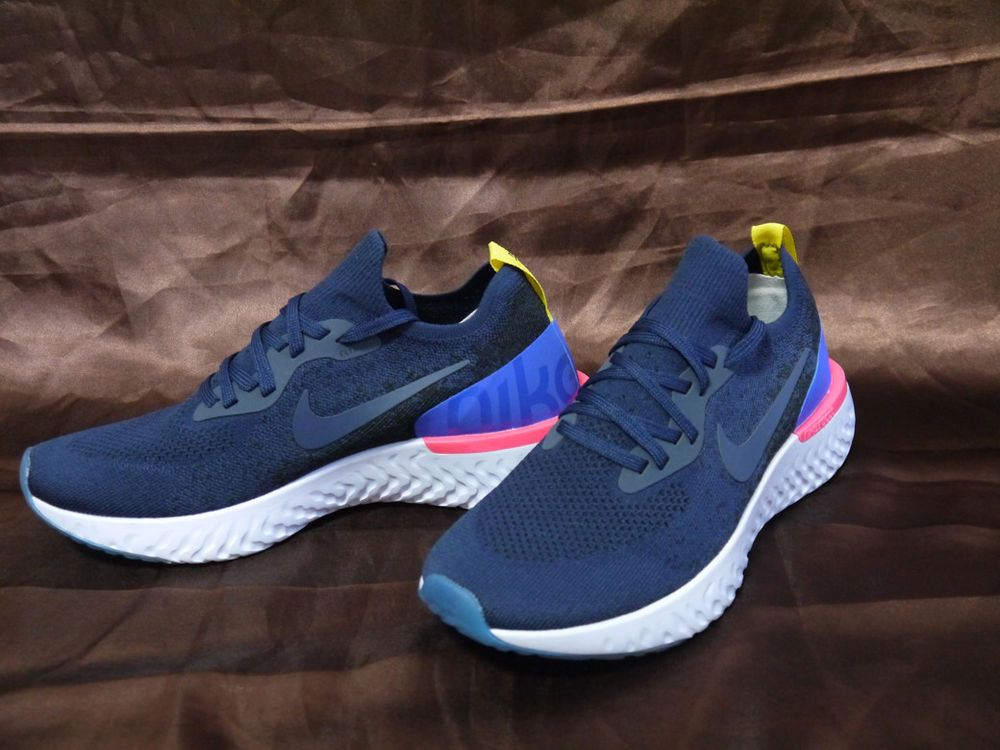 ea60de6bfe4d5 Nike Epic React Flyknit College Navy AQ0067-400 (2018) Running Shoes Size  9.5  fashion  clothing  shoes  accessories  mensshoes  athleticshoes (ebay  link)