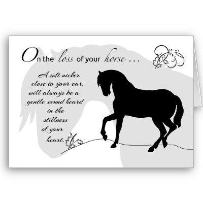 Loss of Pet Personalised Pet Memorial Card Horse Sympathy Card Pet Sympathy Card Personalized Pet Loss Card Loss of Horse Memorial Card