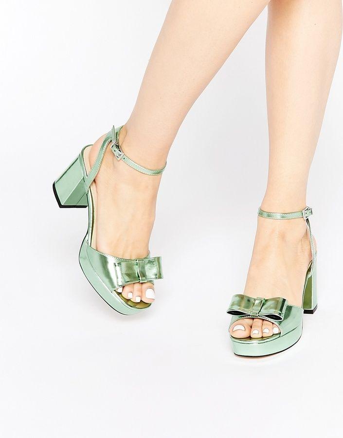 ef261ebaafc Metallic mint heels!