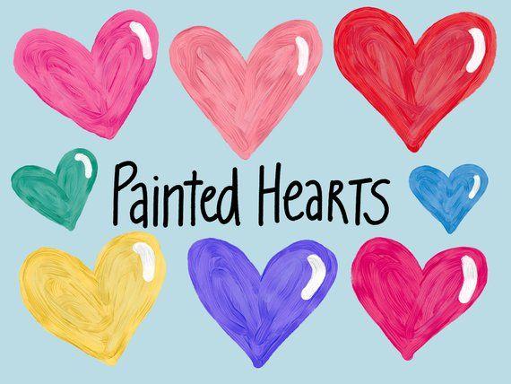 Painted Heart Clipart Clip Art Cute Doodles Clipart Doodle