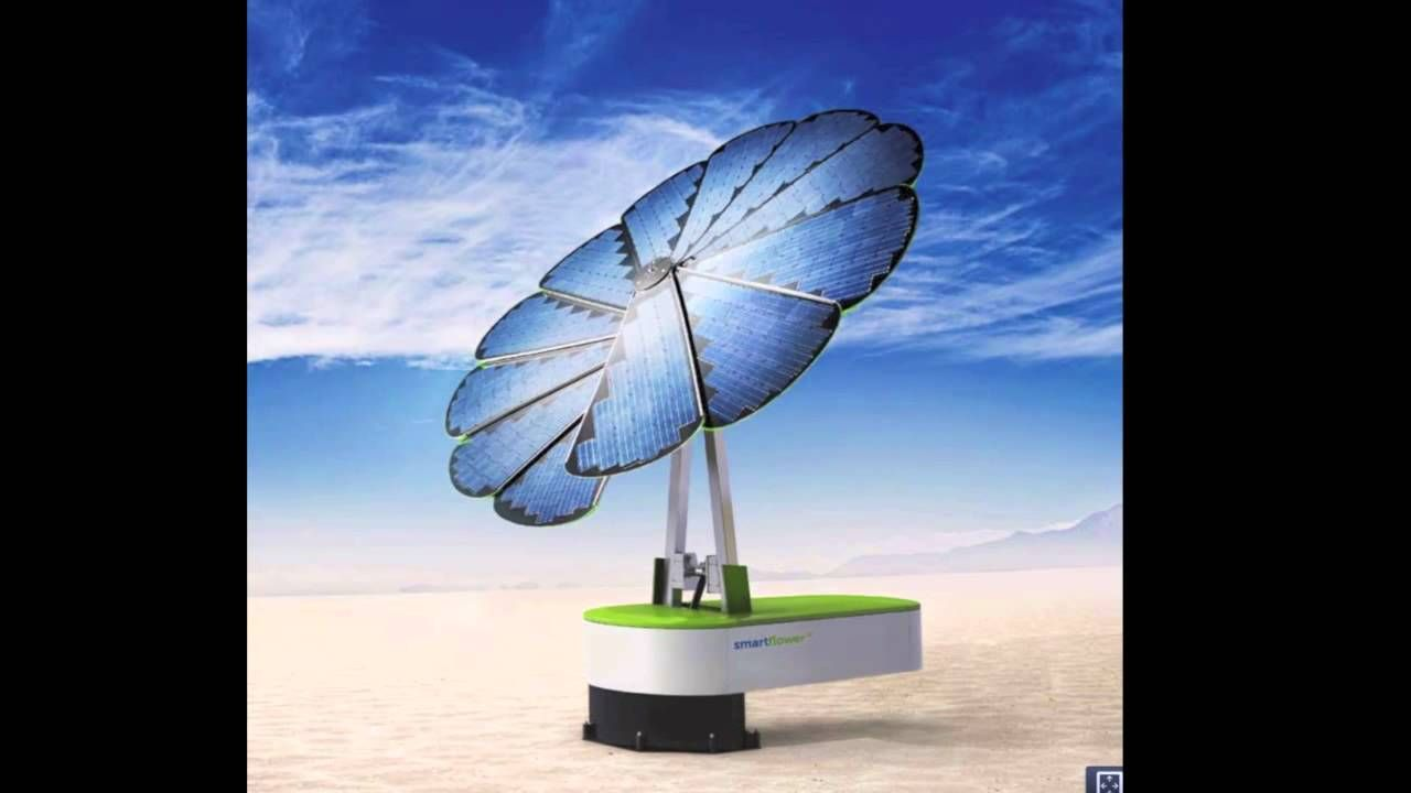 Solar By Smartflower A Cool Way To Produce Energy This One Folds Up Into Storage Unit And Cleans Itself At Night Fully Portable Take It With