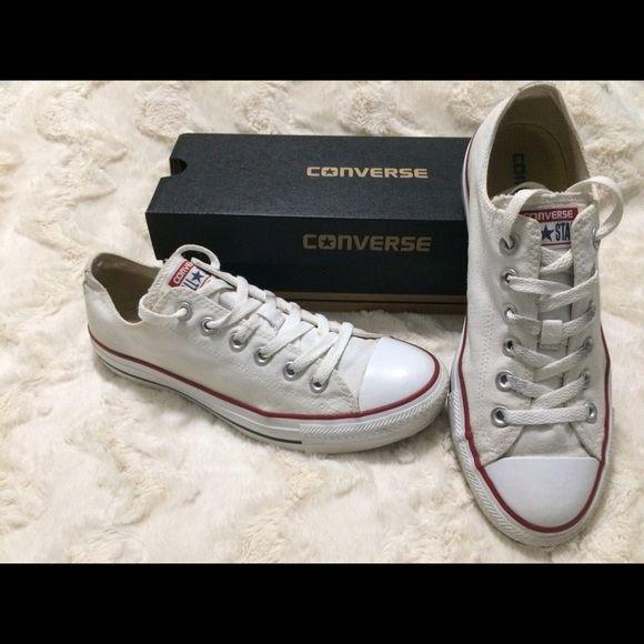 fbf940a8215d28 White converse Used white converse