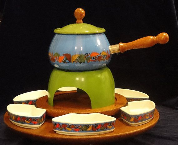 SALE! Fondue Set with Rotating Tray, Service for Six