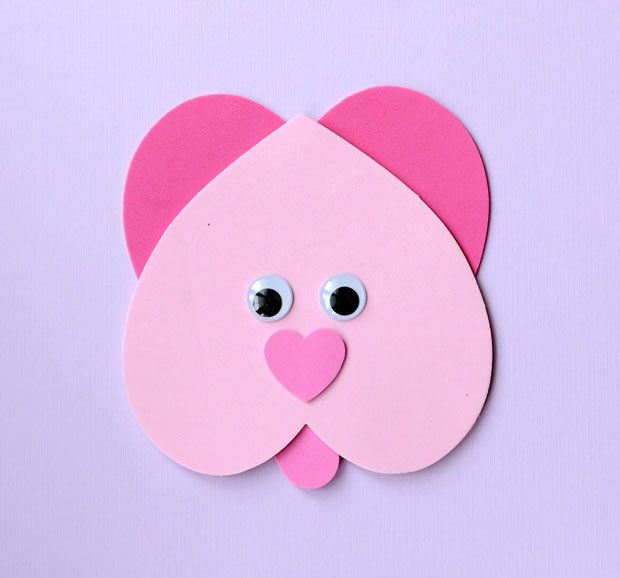 Sweet Valentine\'s Craft: Making Animals from Heart Shapes | Simple ...