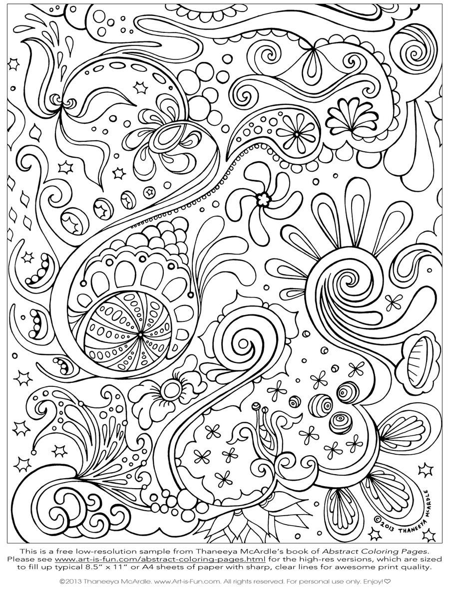 printable abstract art coloring pages coloring kids - Colorings To Print