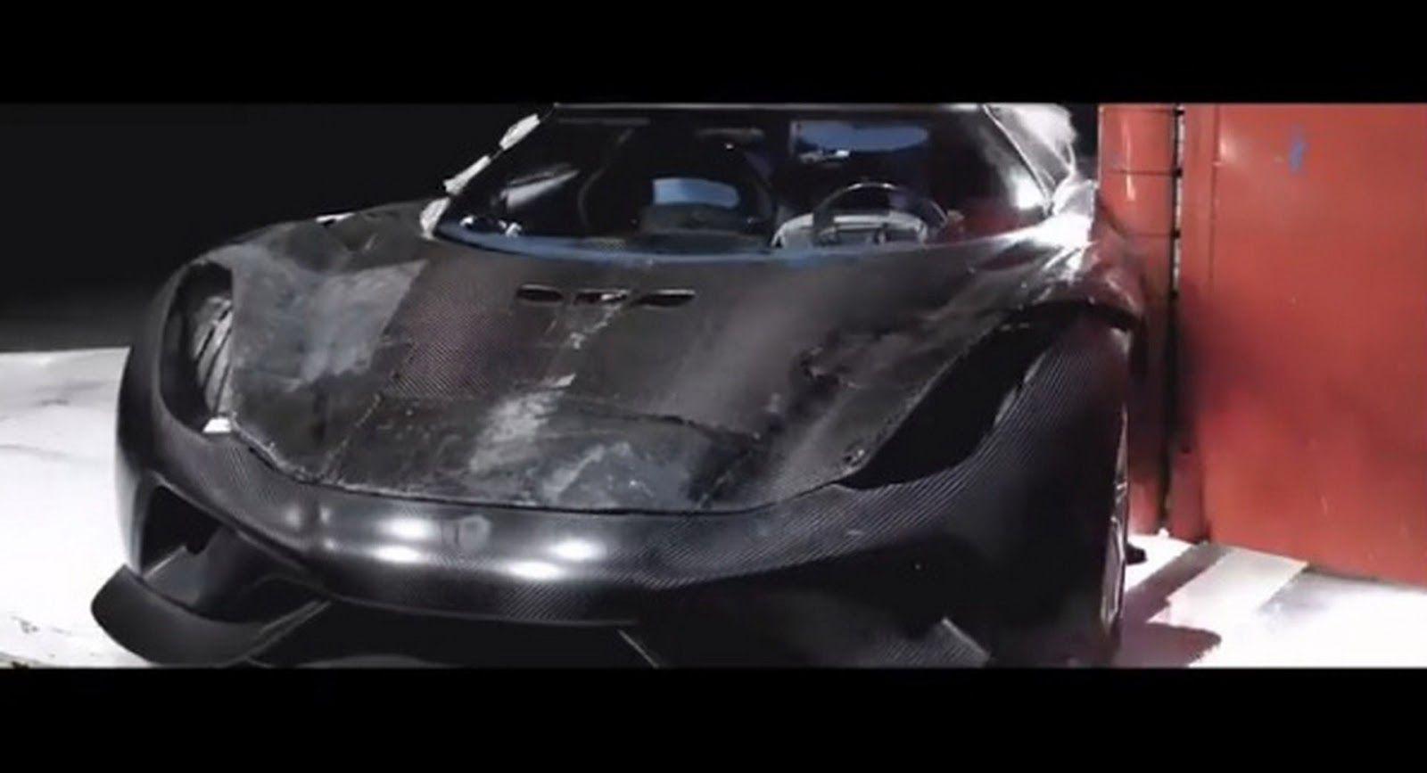 This Is How You Crash Test A Koenigsegg Regera Koenigsegg Crash Super Cars