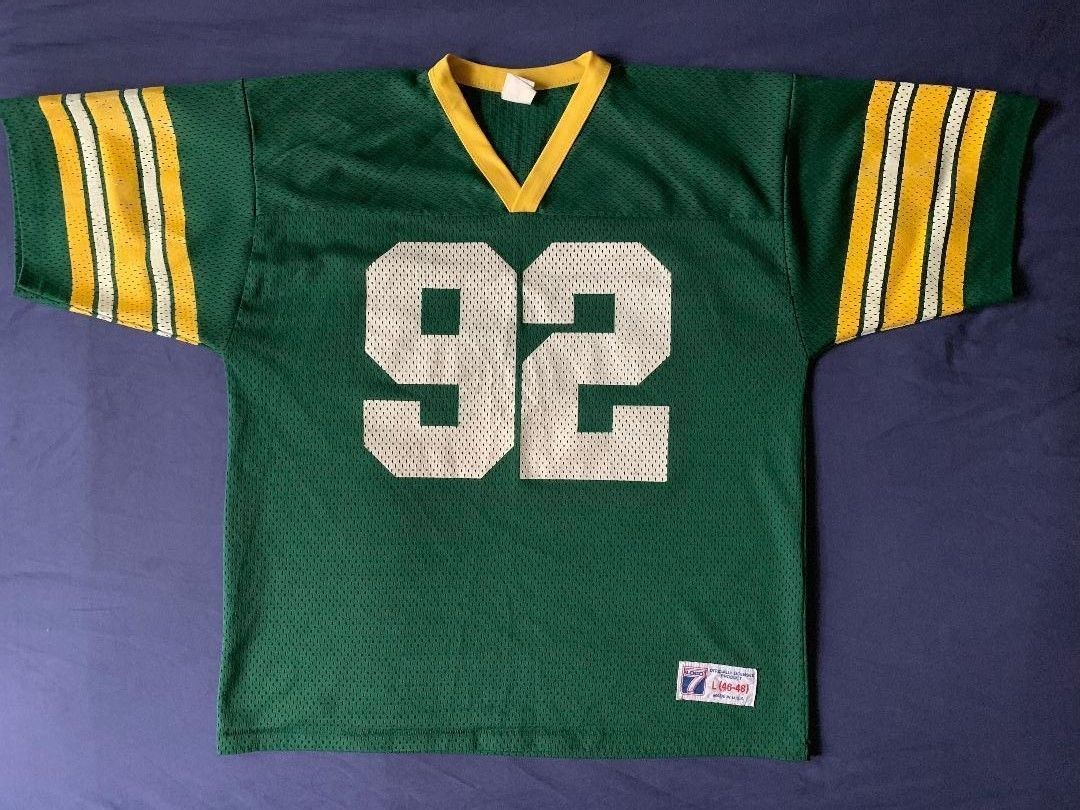 Men s vintage Logo 7 NFL Green Bay Packers jersey Reggie White  92 size L 90ba41574