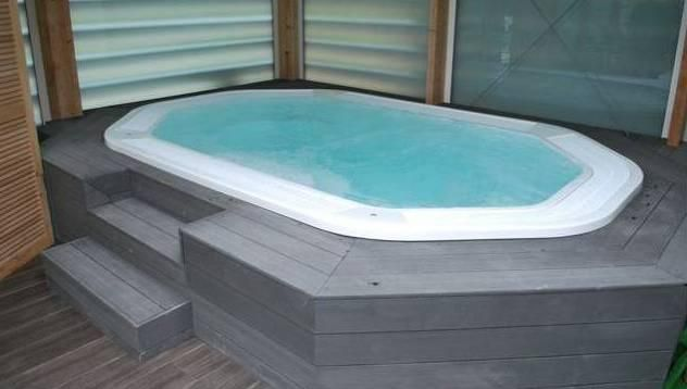 In Ground Hydra Spa Colour White Jacuzzi Installation Project