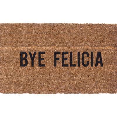 Coco Mats N More Bye Felicia Doormat Door Mat Coir Doormat