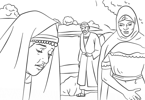 Lydia and Paul coloring page from Paul the Apostle