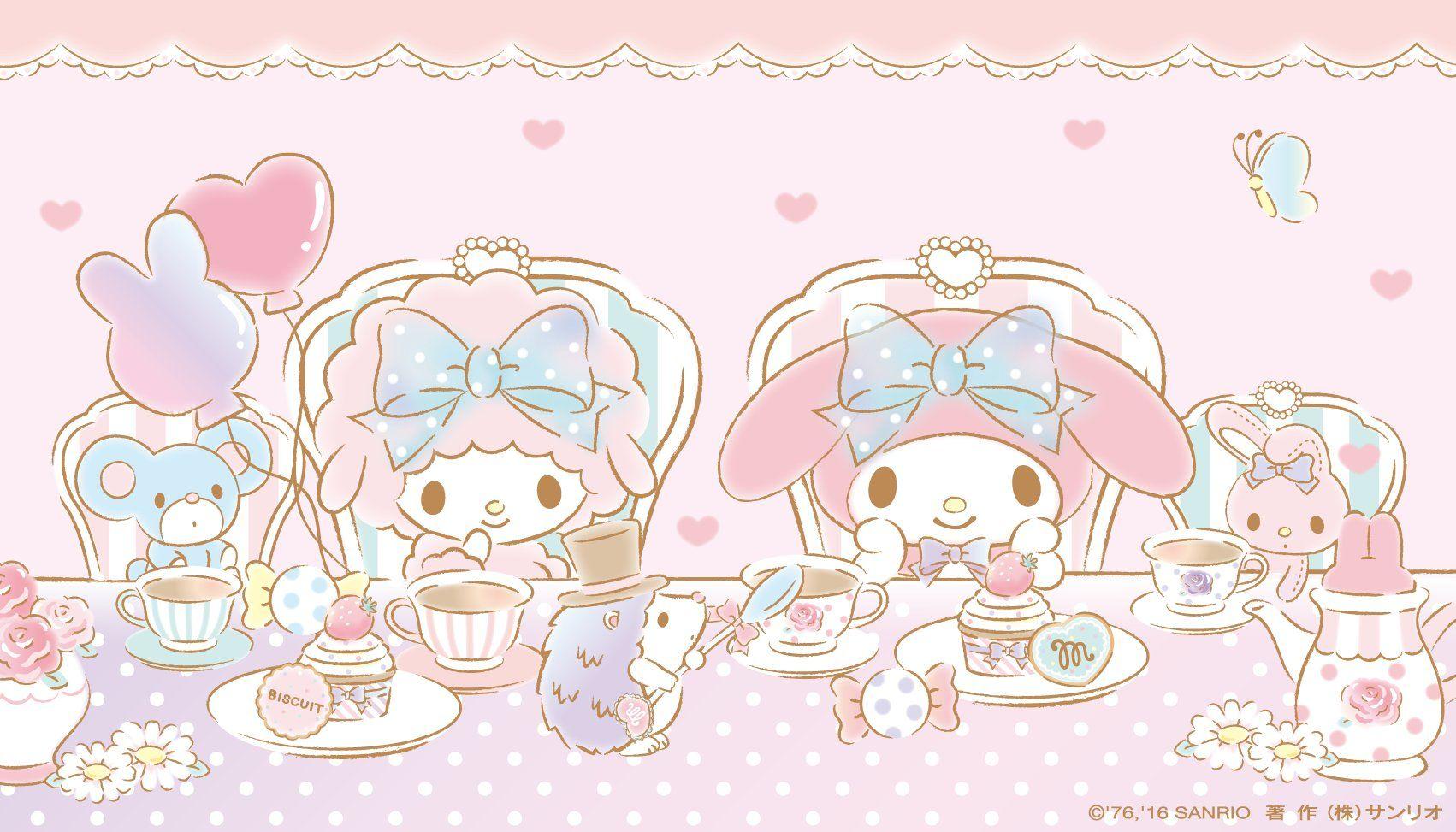 My Melody & My Sweet Piano | マイメロ 壁紙, 病みかわいい, サンリオ 壁紙