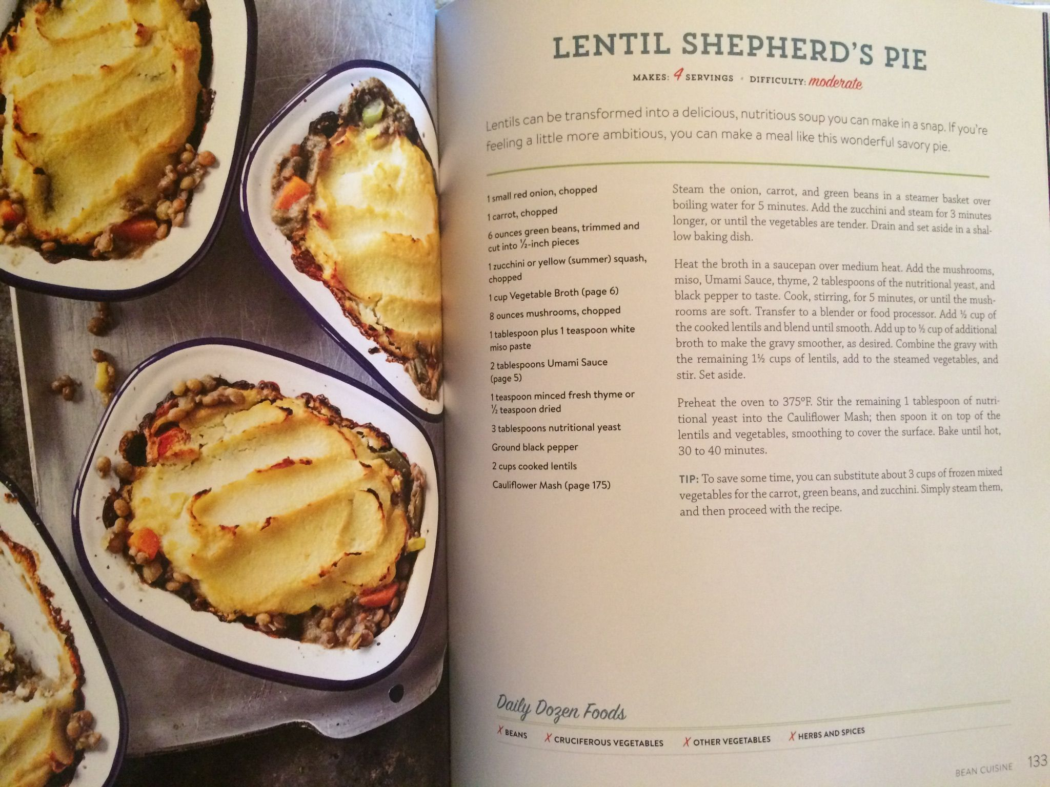Lentil Shepherd S Pie From How Not To Die Cookbook Food Recipes