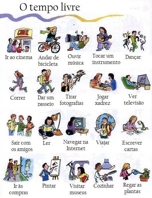 O Tempo Livre Aprende Português Em Huelva Aprender Espanhol Aprender Portugues Tempo Livre