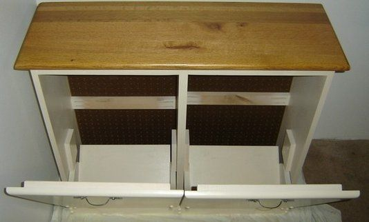 Custom Made New Solid Maple Wood Double Kitchen Garbage Bin ...