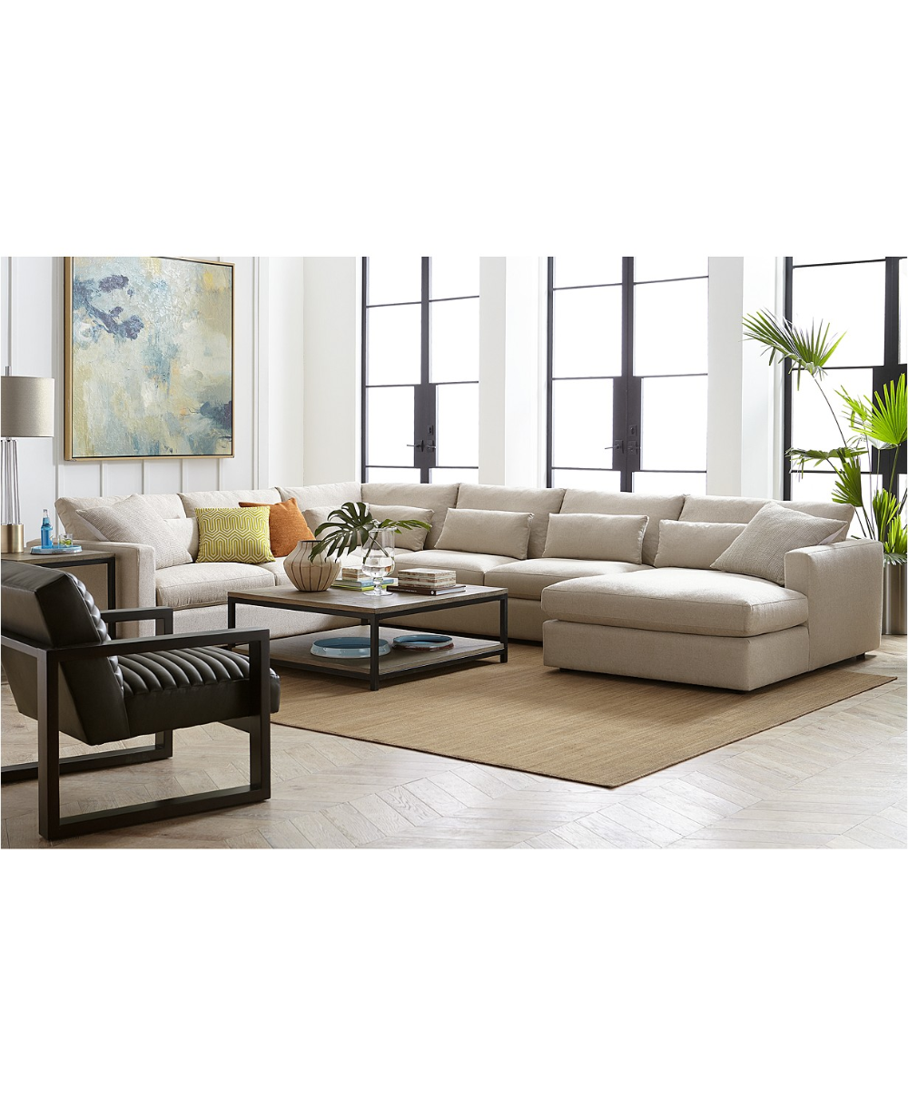 hotel collection canillo fabric sectional sofa collection