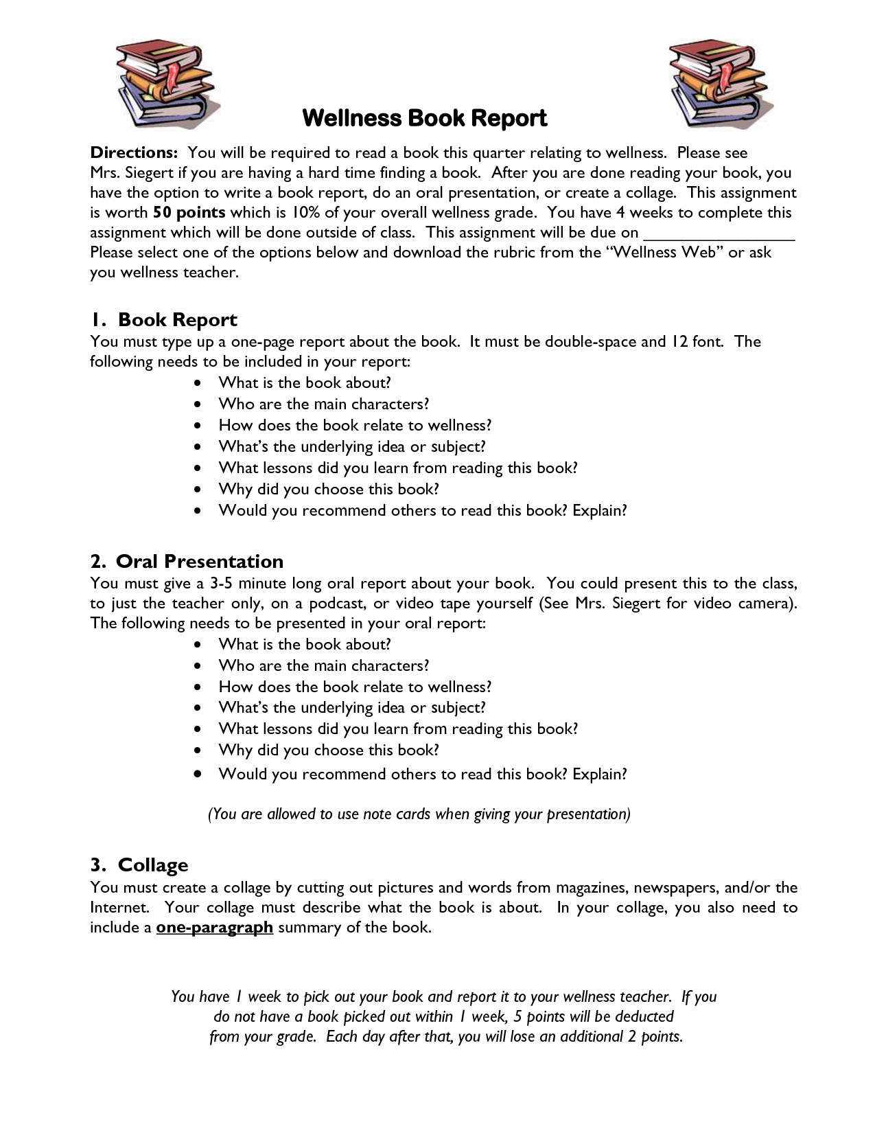 Last Minute Quick Tips for Writing an A + Book Report
