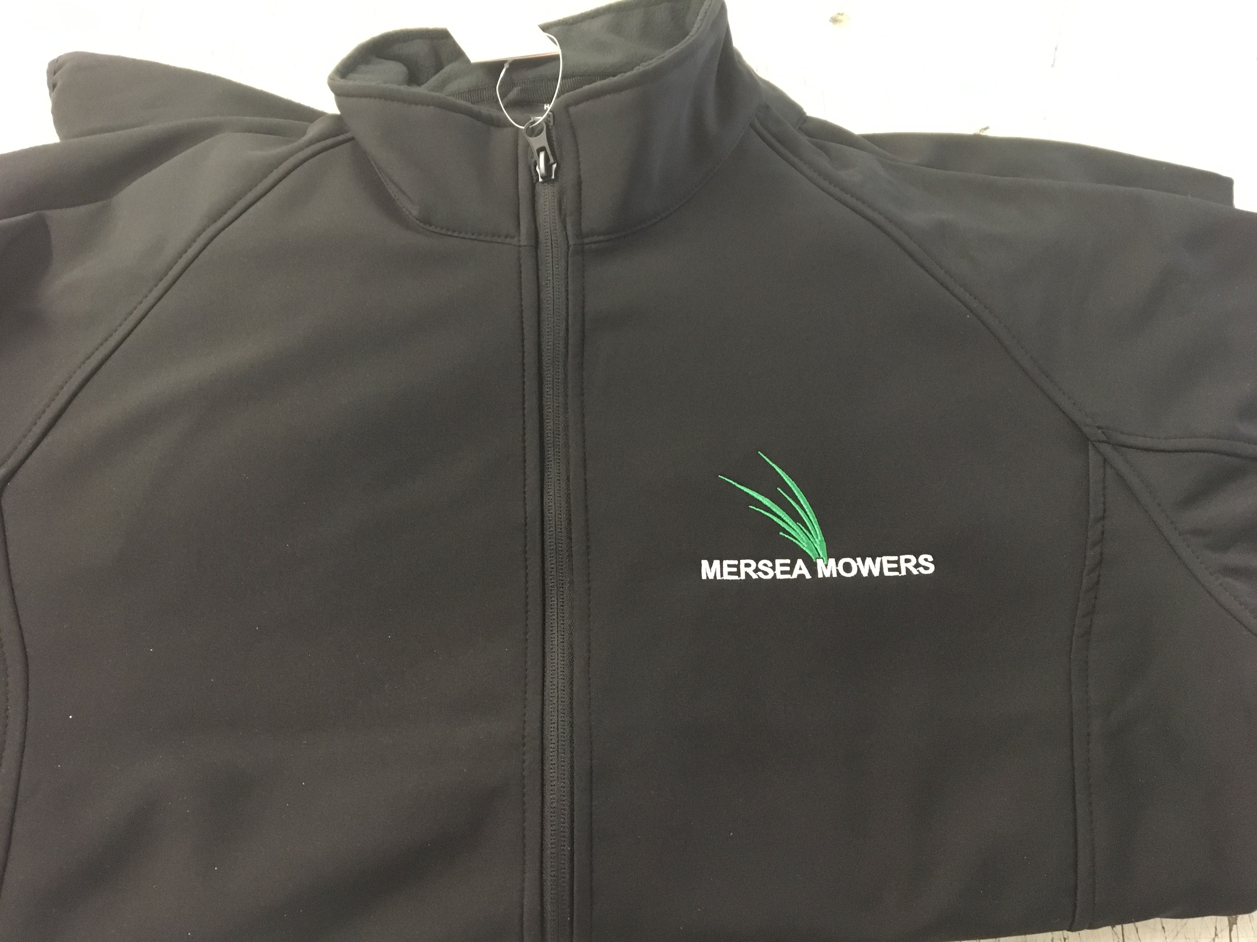Mersea Mowers embroidered soft shell jackets